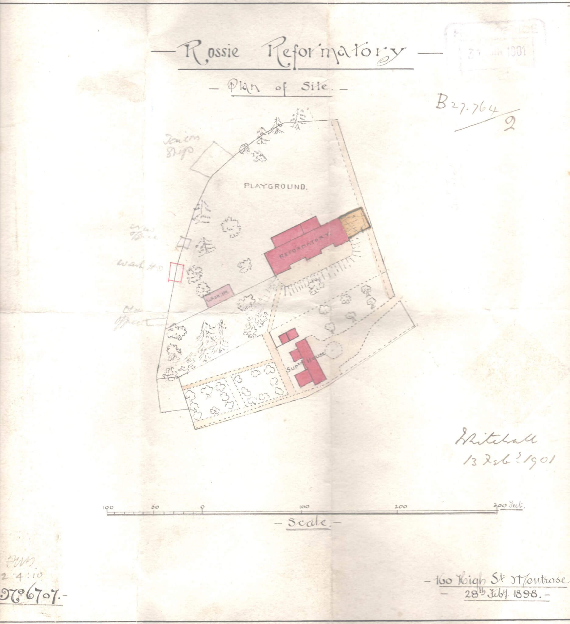 Rossie site map 1898