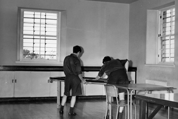 Two boys in a Rossie classroom 1960