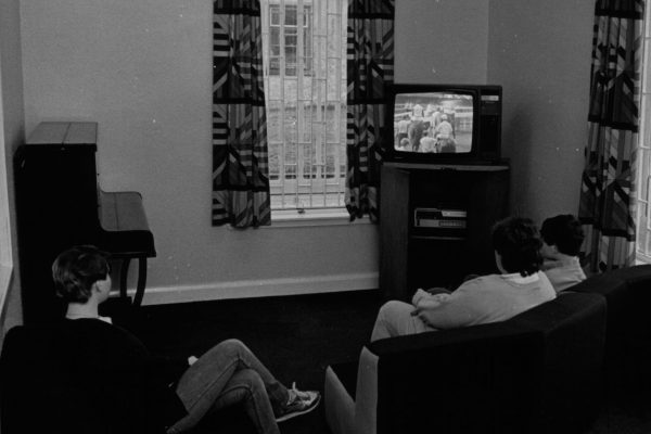 Rossie residents watching tv 1980s-1