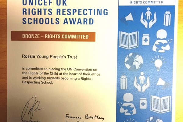 Unicef UK rights respecting schools awards Bronze