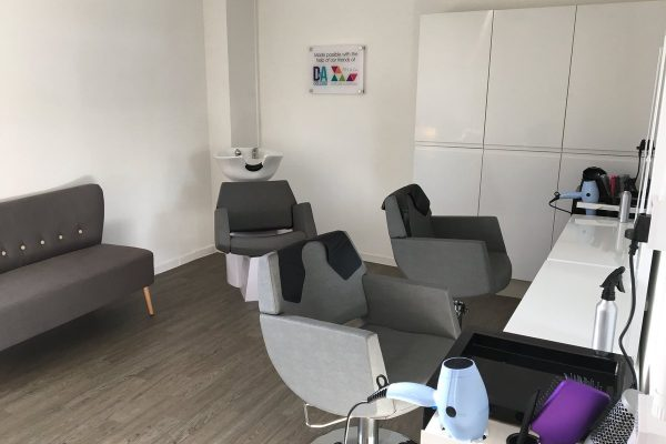 Rossie hairdressing salon and training area 2018