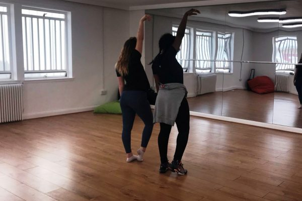 Dancers in the Rossie Innovations Dance Studio