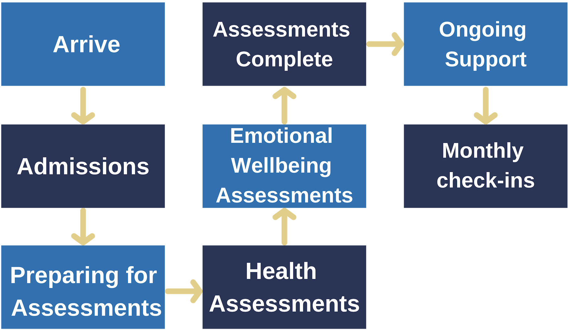 Initial Assessments Journey for Young People Rossie diagram