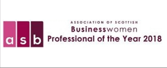 Business woman of the year 2018 logo