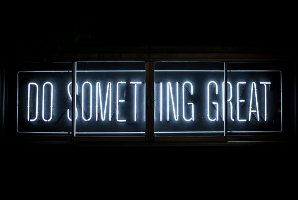 Do something great written in neon lights
