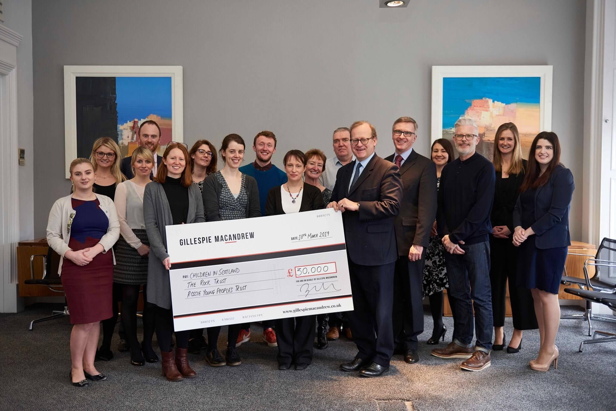Gillespie Macandrew £30000 charity donation